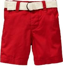 Belted Twill Shorts for Baby