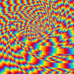 Discover & share this Cgi GIF with everyone you know. GIPHY is how you search, share, discover, and create GIFs. Illusion Kunst, Optical Illusion Gif, Art Optical, Cool Optical Illusions, Illusion Art, Trippy Gif, Trippy Wallpaper, Rainbow Aesthetic, Aesthetic Gif