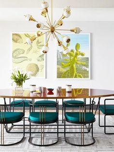 Colorful modern dini