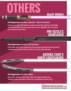 Star Wars lightsabers others