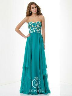 sexy long green prom dress