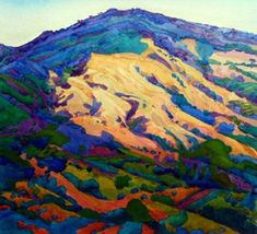 Robin Purcell Mt. Diablo Watercolor painting