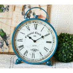 Zegar Colonial Clock niebieski