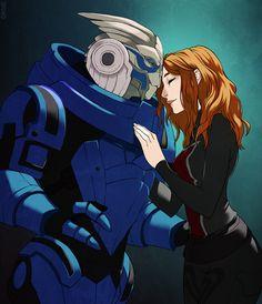 Mass Effect,фэндомы,Femshep,Commander Shepard,ME персонажи,Garrus Vacarian