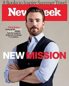 "47,9 mil curtidas, 876 comentários - Newsweek (@newsweek) no Instagram: ""EXCLUSIVE: Chris Evans was Captain America. Now he wants to help Gen Z reshape US politics. Link in…"""