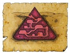 Pyramide-web by Kosmic-Dungeon on DeviantArt Character And Setting, Character Design, Nerd Memes, Boutique Interior Design, Dungeon Maps, Fantasy Map, Map Design, Fantasy Inspiration, Plans