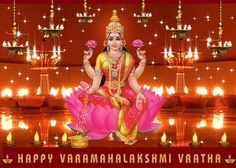 """""""Sriram Herbals wishing you all a very Happy Varamahalakshmi"""". Let Goddess Varalakshmi who is an aspect of Sri Mahalakshmi shower blessings on you and your family on this auspicious day. http://sriramherbals.net/"""