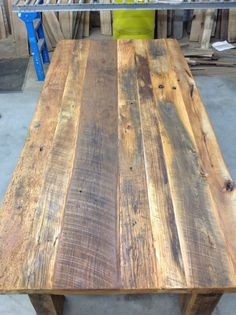 This will be the first time I've had a *real* dining table! Would love to do a reclaimed wood project! --- How To Build Your Own Reclaimed Wood Table-DIY Table Kits For Sale Reclaimed Wood Projects, Reclaimed Wood Furniture, Recycled Wood, Rustic Furniture, Diy Furniture, Furniture Design, Reclaimed Wood Dining Table, Repurposed Wood, Salvaged Wood