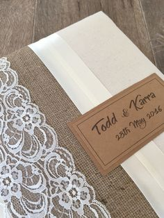 Rustic wedding guest books handmade with Vintage La Belle