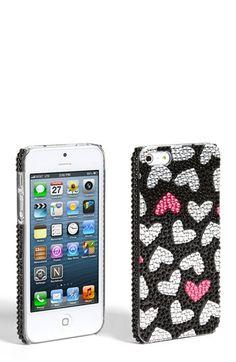 Tri-Coastal Design Rhinestone Hearts iPhone 5 Case (Juniors) available at #Nordstrom