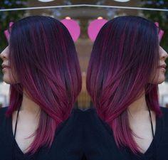 Cor de cabelo Marsala/Borgonha. ~ Be Unique