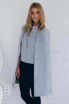 alex coat - grey | Esther clothing