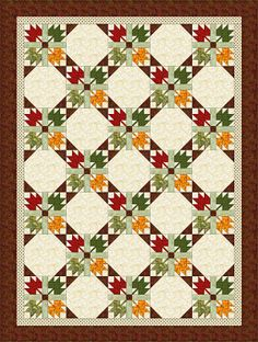 MAPLE LEAVES QUILT                    PC