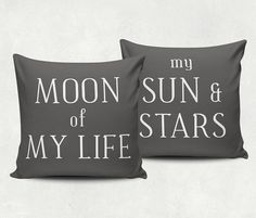 • FREE SHIPPING WITHIN THE U.S. •  Decorative pillow set, perfect for that geeky Game of Thrones couple :)  • 18x18 inches • 80% polyester / 20% cotton