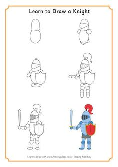 Learn to Draw a Knight