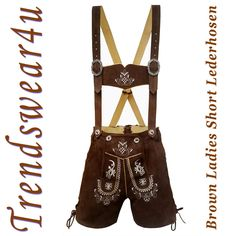 Authentic Lederhosen Oktoberfest Ladies Outfit German Bavarian Trachten Shorts #Trendswear4u