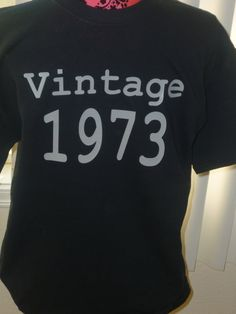 Vintage 73' 40th Birthday black adult shirt NEW by OodlesDecals, $14.00