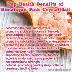 Natural Cures Not Medicine: Top health benefits of Himalayan pink crystal salt Matcha Benefits, Health Benefits, Health Tips, Clean Eating Meal Plan, Clean Eating Recipes, Natural Cures, Natural Health, Natural Face, Sugar Health