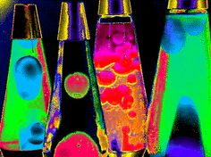 from my  glow in dark & neon poster '70s..still love these lava lights