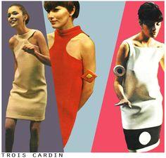 Pierre Cardin, Vintage E L L E French magazine, march 1966. Jaa design archive