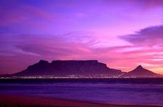Table Mountain, Cape Town, South Africa My own purple sunset Knysna, Port Elizabeth, Beautiful World, Beautiful Places, Amazing Places, Table Mountain Cape Town, 7 Natural Wonders, Cape Town South Africa, Africa Travel