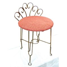 vintage 1950s60s mid century hollywood regency brass vanity chairstool some extremely