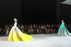 On the runway at Giambattista Valli couture. [Photo by WWD Staff]