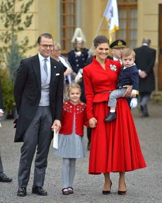 Estelle with her parents Crown Princess Victoria and Prince Daniel and her little brother Oscar at…""