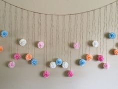 Pastel Color Tissue Paper Flower Wedding Garland by giddy4paisley
