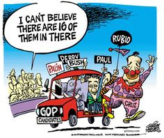 #MarcoRubio joins the #GOP clown car  http://www.cbsnews.com/news/marco-rubio-tells-donors-hes-running-for-president-in-2016/…