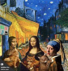 Johannes Vermeer, Mona Friends, Arte Van Gogh, Art Jokes, Graphic Design Books, Cultura Pop, Funny Art, Pictures To Draw, The Little Mermaid
