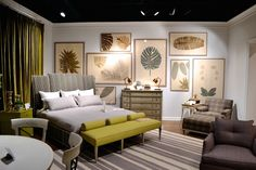 Beautiful collection of Lauren Lachance art in the Vanguard Showroom in High Point, NC // SummerHouse