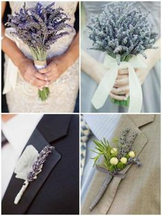 Weddbook ♥ lavender bouquets and buttonholes. DIY wedding bouquet and buttonholes. Country wedding idea. purple lavender