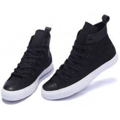 d29cf19d96fe Converse Shoes Black Chuck Taylor Urban Style Mens Womens Fashion Canvas   Leather  Sneakers Hi