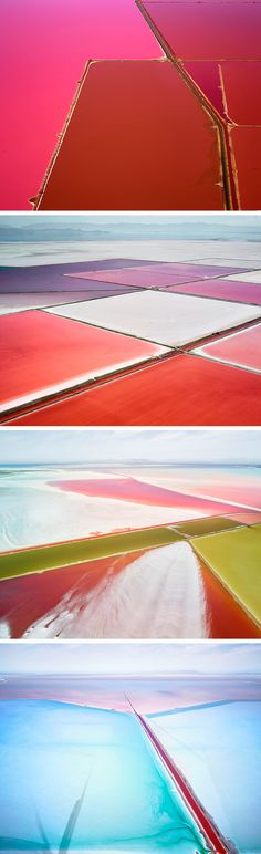 Aerial Images of Salterns That Blur the Line Between Photograph and Painting by David Burdeny