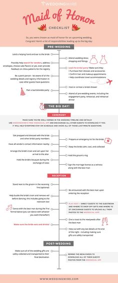 The ultimate Maid of Honor #Checklist ...Share with your #MOH <3 #weddingtips Women, Men and Kids Outfit Ideas on our website at 7ootd.com #ootd #7ootd