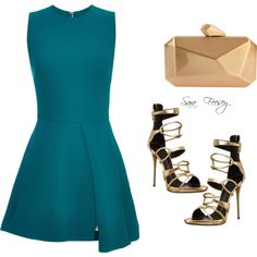 Untitled #135 by sara-elizabeth-feesey on Polyvore featuring polyvore, fashion, style, Elie Saab and Giuseppe Zanotti