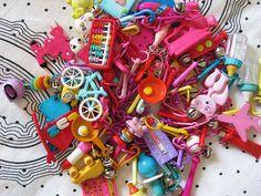 Plastic charm necklaces