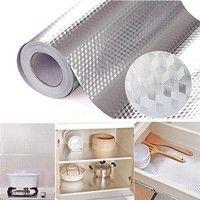 Home Decor Diy Waterproof Oil Proof Aluminum Foil Self Adhesive