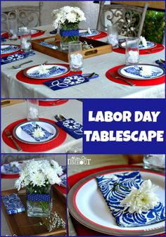 Labor Day Tablescape Ideas from MomOnTimeout.com