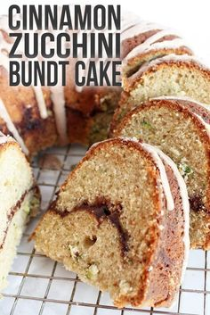 Cinnamon zucchini bundt cake combines cinnamon swirl cake with zucchini bread to create a deliciously sweet late-summer dessert. Zucchini Cupcakes, Zucchini Muffins, Zucchini Bundt Cake Recipe, Cinnamon Zucchini Bread, Zucchini Cookie Recipes, Zucchini Desserts, Best Zucchini Bread, Zuchinni Recipes, Cupcake Recipes