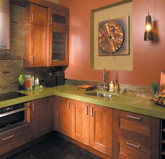 Canyon Creek Millennia - Quattro & Duet in Beech in Cayenne - frameless - modern - Kitchen - Seattle - Canyon Creek Cabinet Company
