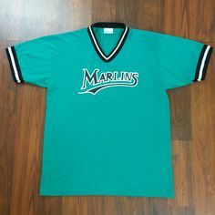 This 90's, Florida Marlins MLB Baseball Jersey just hit the shop. Swing by www.JustOneVintage.com and check it out. Shoot me a message if you have any questions. #FloridaMarlins #MiamiMarlins #LosClasicos