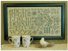 Green On Green is the title of this cross stitch pattern from Rosewood Manor that is stitched with 11 skeins of Weeks Dye Works Cadet. Here ...