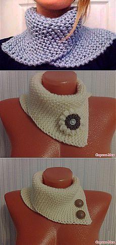 Манишка платочной вязкой