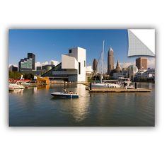 ArtWall Cody York' Cleveland Skyline 7' Art Appealz Removable Wall Art