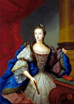 Portrait of Infanta Maria of Portugal, future Queen Regnant, by Vieira Lusitano, 1758