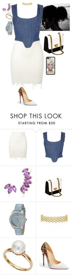 """Untitled #198"" by stinze on Polyvore featuring adidas Originals, Vivienne Westwood, Ross-Simons, GUESS, TARA Pearls and Christian Louboutin"