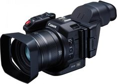 Canon has finally taken the wraps off of the previously-leaked camcorder. The Canon features a sensor with and capable of capturing video using Canon's new XF-AVC forma… Camcorder, Canon Video Camera, Canon Cameras, 4k Photography, Photography Equipment, Time Lapse Camera, Gopro, Video 4k, Still Camera