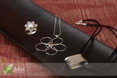 Simple but beautiful sterling silver necklaces and ring.  Handmade and Fair Trade.